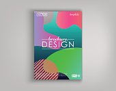 Brochure Cover Design Cards Isolated. Dynamic fashion flat design. Poster, banner, flyer, poster, business card and other your projects. Vector Illustration