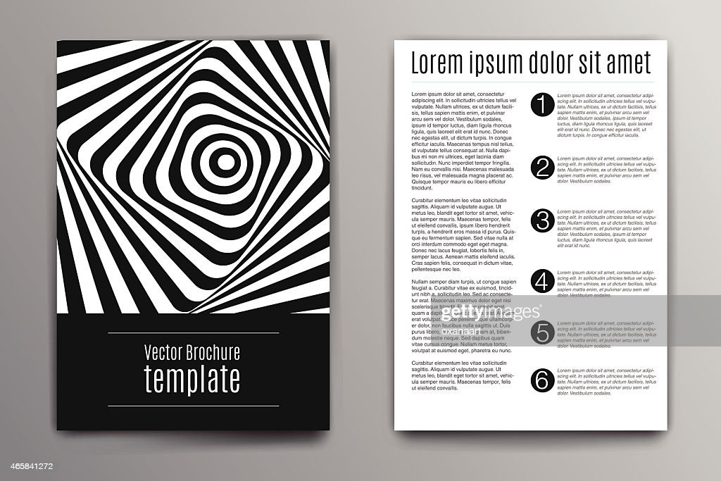 Brochure cover design concept. Zebra abstract stripes illustration