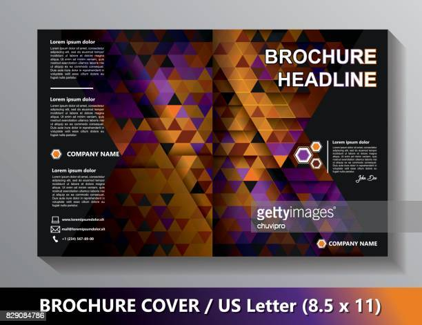 Brochure Cover Template. Abstract Triangles