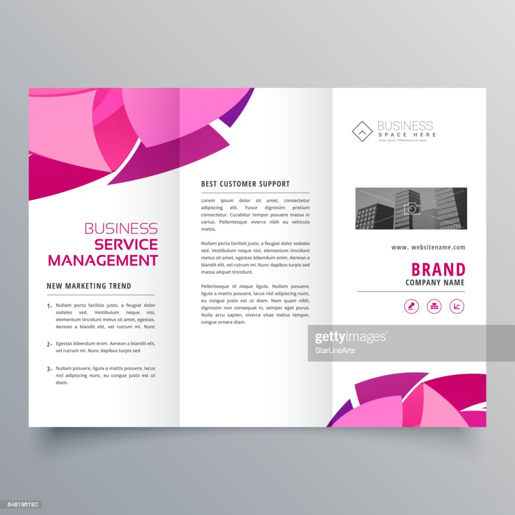 brochure design in trifold style creative template