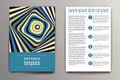 Brochure design template. Abstract raibow stripes illustration
