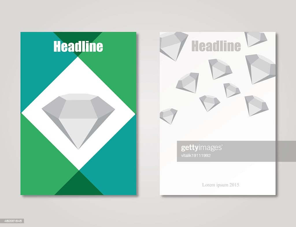 Brochure design template stylish : Vector Art