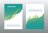 A4 brochure design template vector. Annual report page cover illustration.