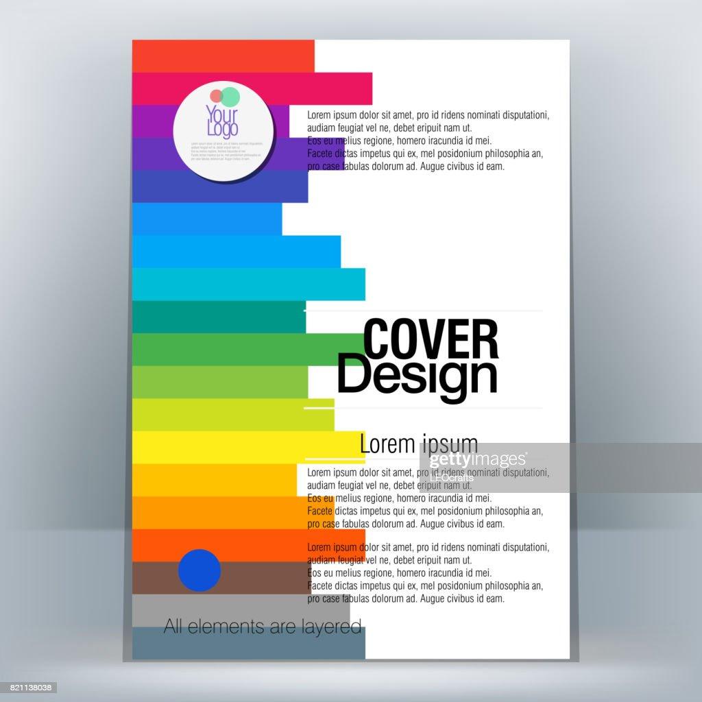 パンフレットデザインテンプレート ベクトルアート getty images