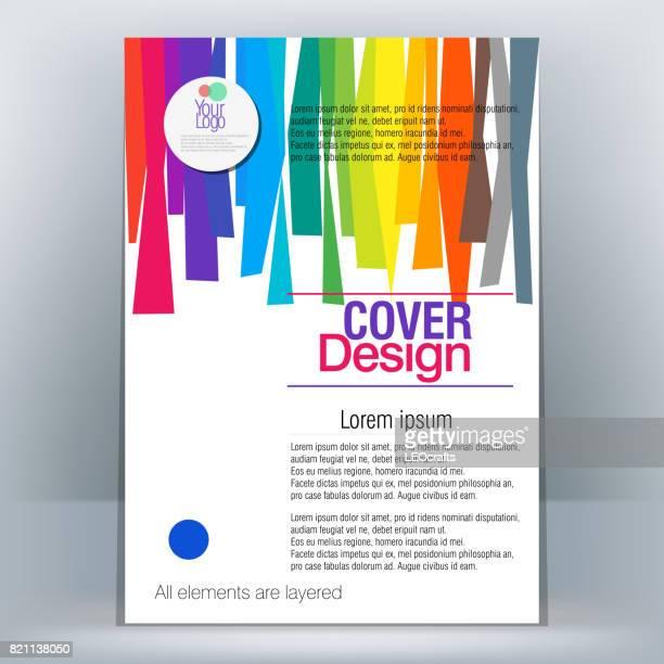 Plantilla de diseño de folletos