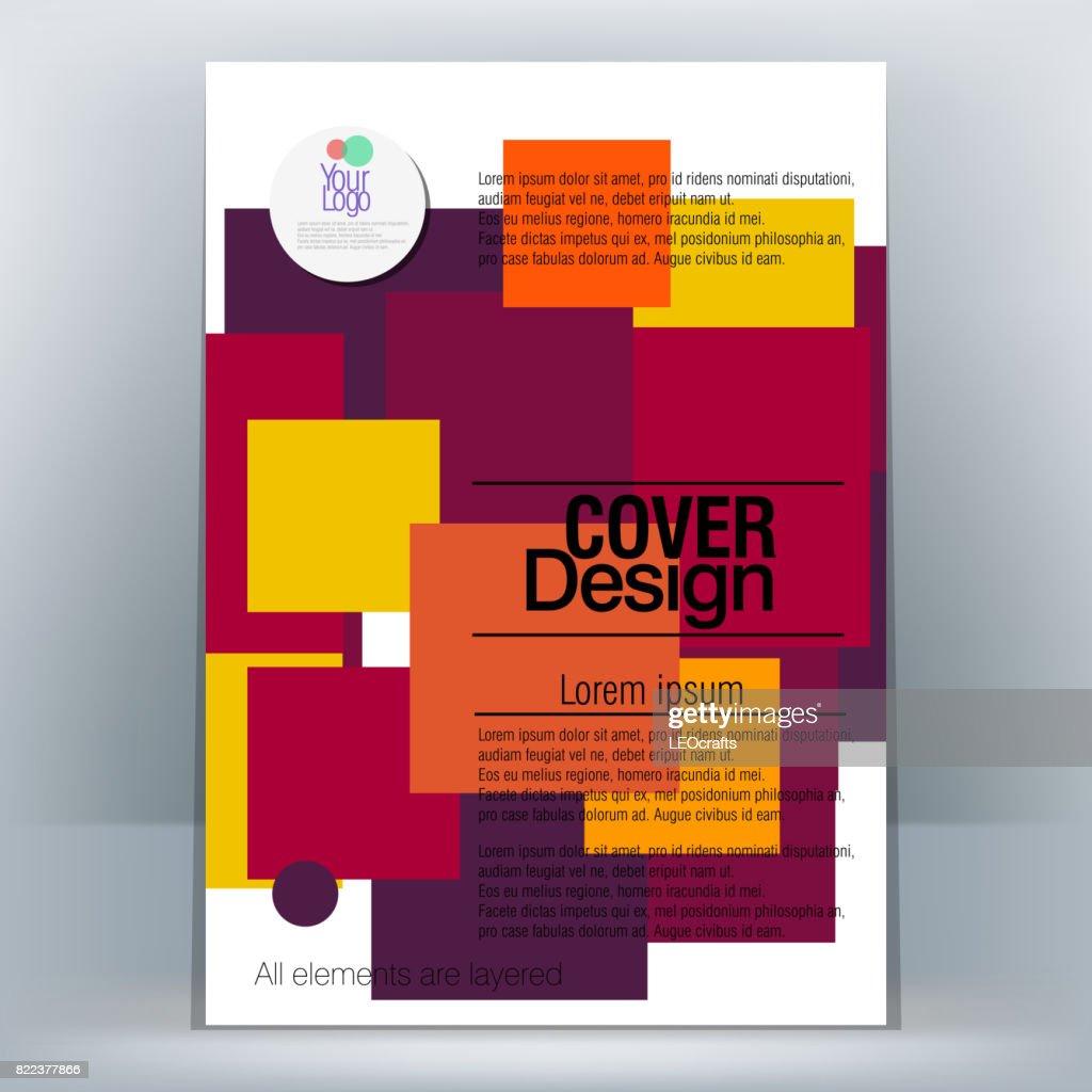 Brochure Design Template : stock illustration