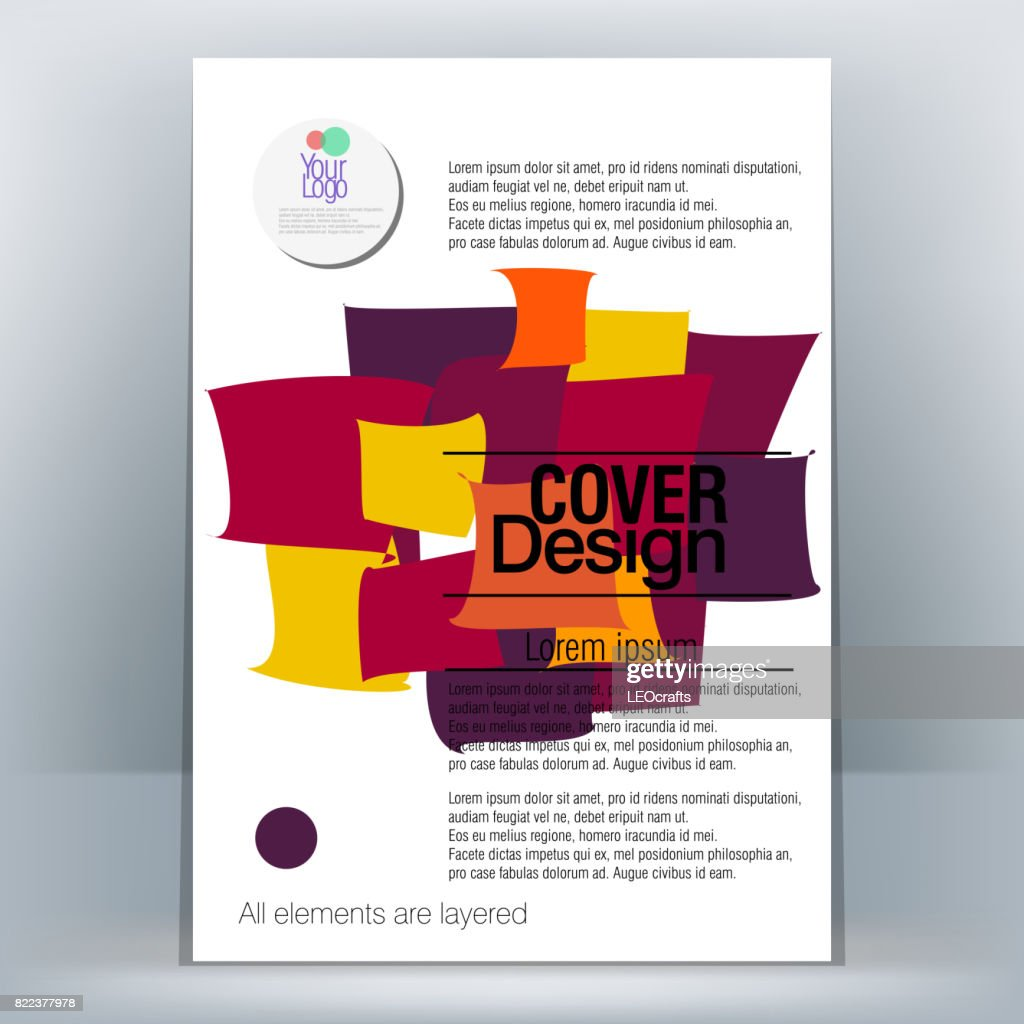 Brochure Design Template : stock illustration