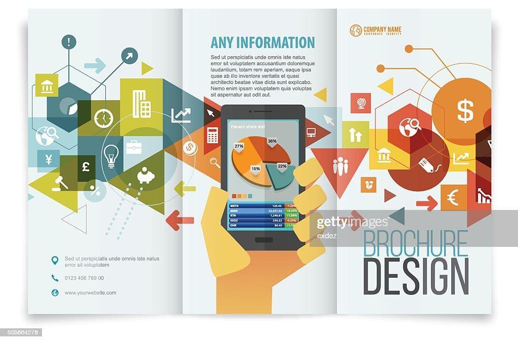 design de brochuras tri dobrar : Ilustração
