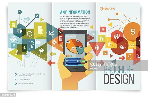 Brochure design tri fold