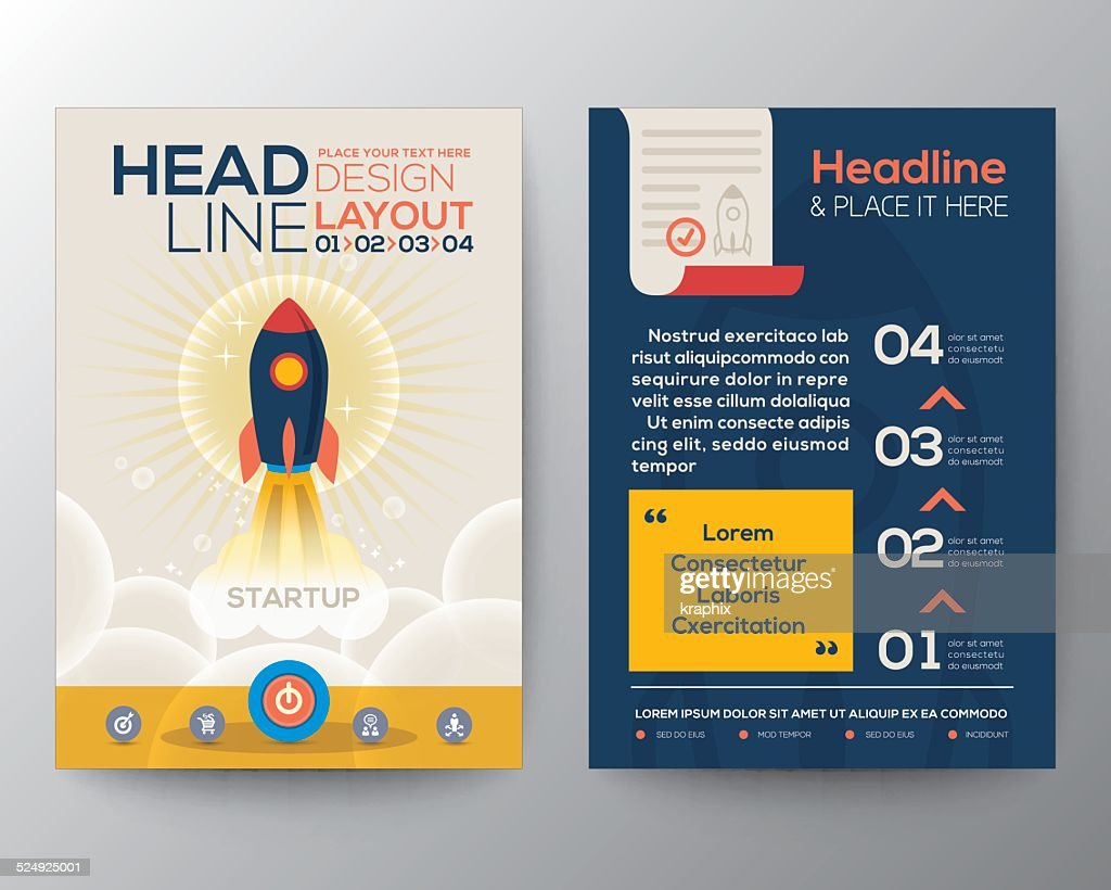Brochure Flyer design Layout vector template with start up business