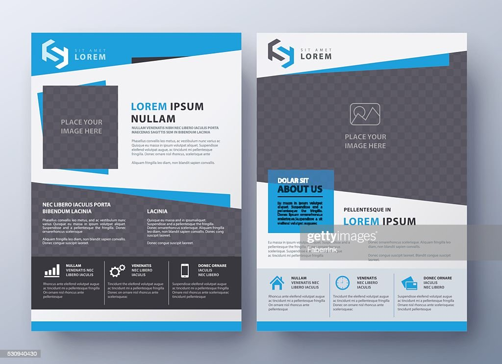 Brochure flyer design template. Leaflet cover in A4 size