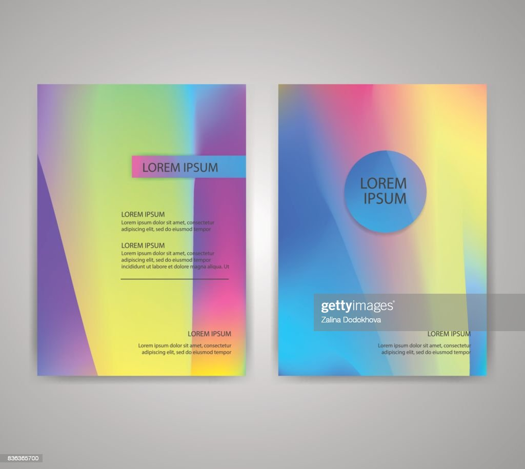 brochure flyer layouts with abstract colorful background vector art