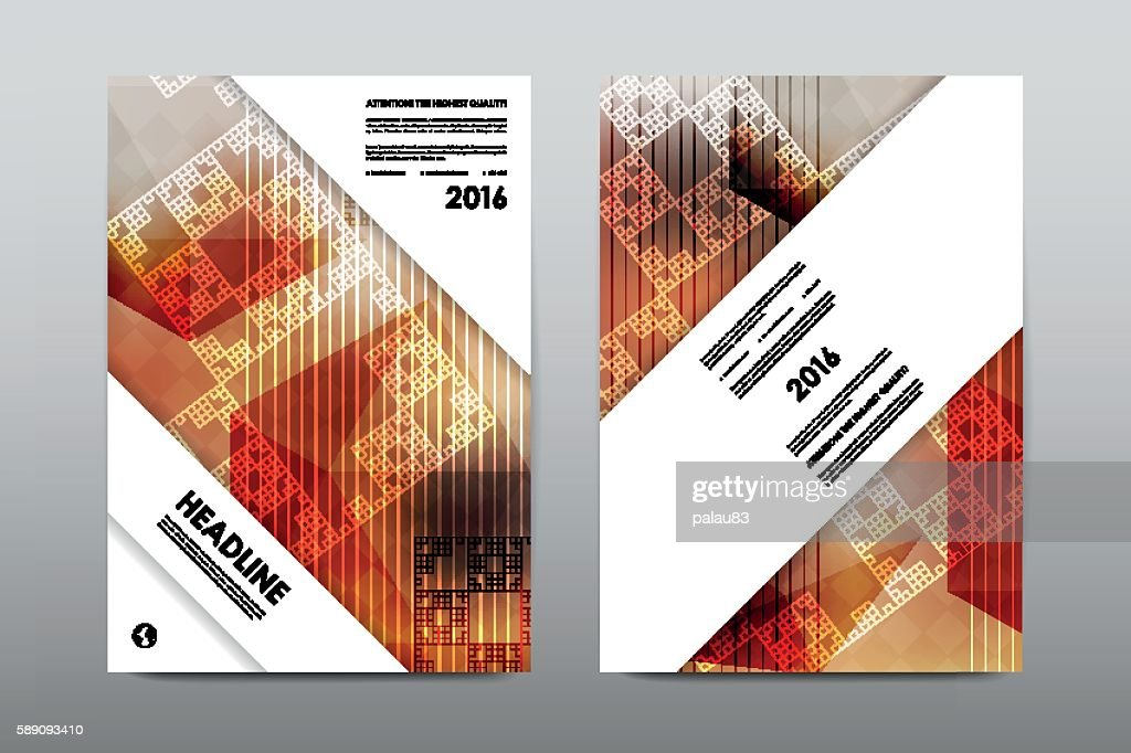 Brochure Layout Template Flyer Design Vector Magazine Booklet Cover