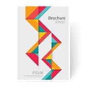 Brochure, leaflet, flyer, cover template.