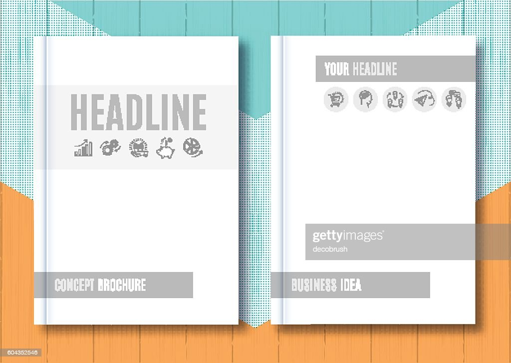 Brochure Mock-up Blank magazine Cover template notebook Vector illustration