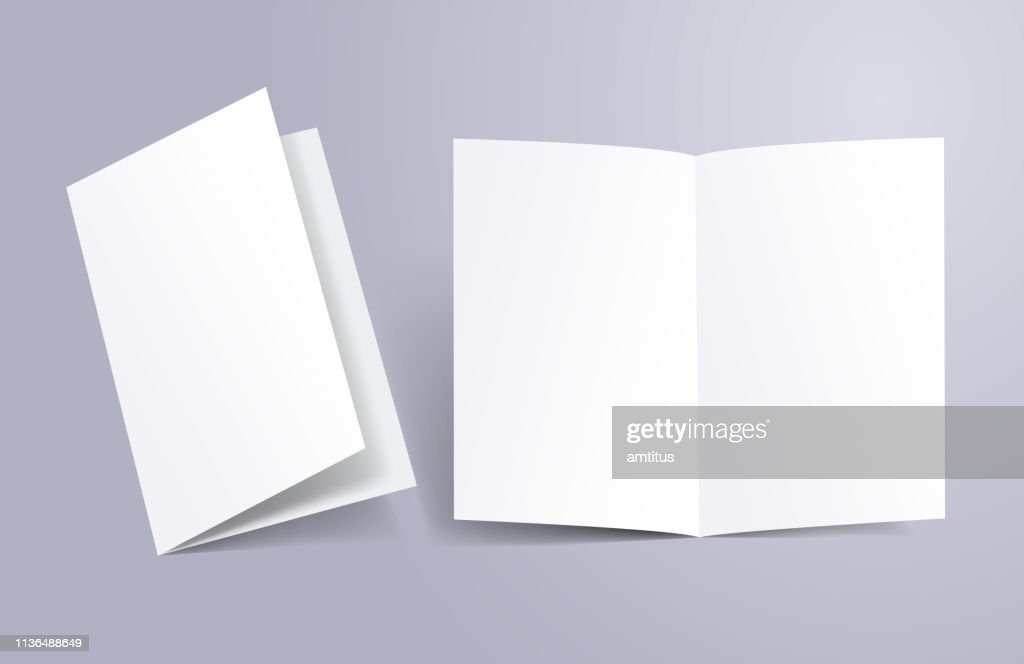 brochure open and close : Stock Illustration