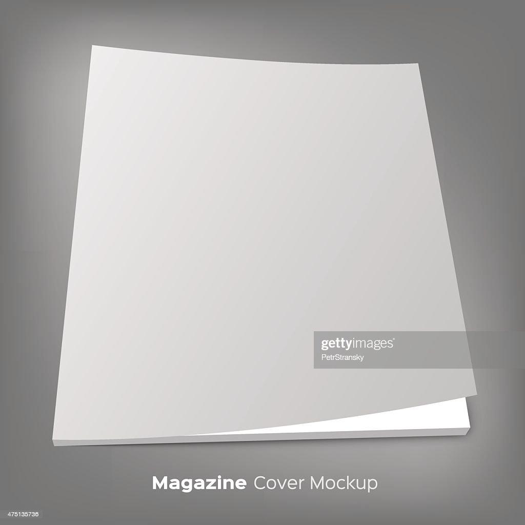 brochure or magazine mockup on gray