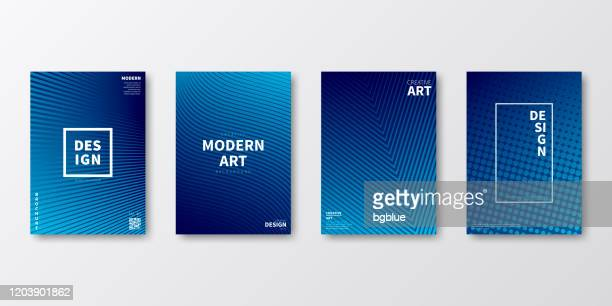 brochure template layout, blue cover design, business annual report, flyer, magazine - design stock illustrations