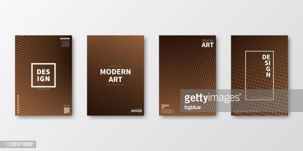 brochure template layout, brown cover design, business annual report, flyer, magazine - brown background stock illustrations