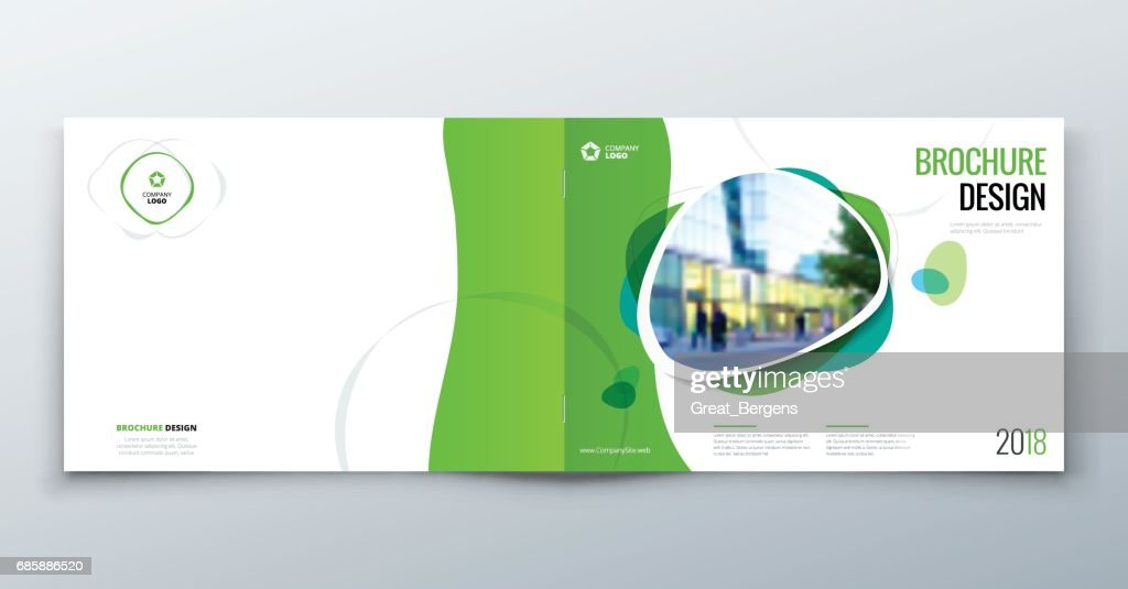 Brochure template layout, cover design annual report, magazine, flyer or booklet in A4 with geometric shapes. Vector Illustration.