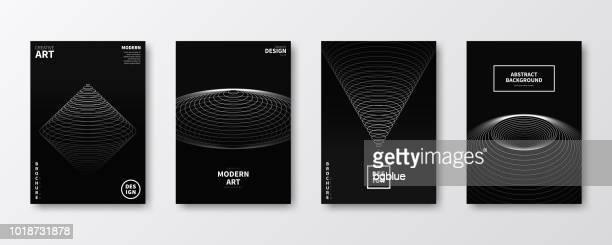 broschüre vorlage layout, cover-design, jährlichen geschäftsbericht, flyer, magazine - kunstdruck stock-grafiken, -clipart, -cartoons und -symbole