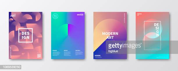brochure template layout, cover design, business annual report, flyer, magazine - color gradient stock illustrations