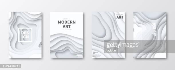 broschüre vorlage layout, cover-design, jährlichen geschäftsbericht, flyer, magazine - papierhandwerk stock-grafiken, -clipart, -cartoons und -symbole