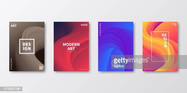 パンフレットテンプレートのレイアウト、表紙デザイン、ビジネス年次報告書、チラシ、雑誌 - 覆う点のイラスト素材/クリップアート素材/マンガ素材/アイコン素材