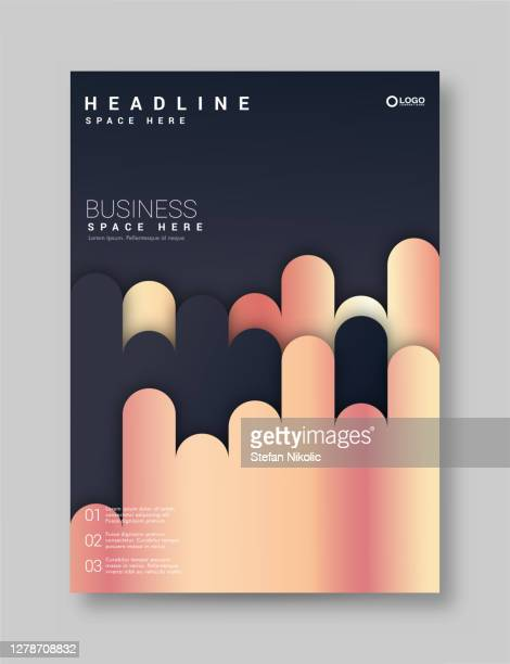 brochure template layout, cover design, business annual report, flyer, magazine stock illustration - meteor shower stock illustrations