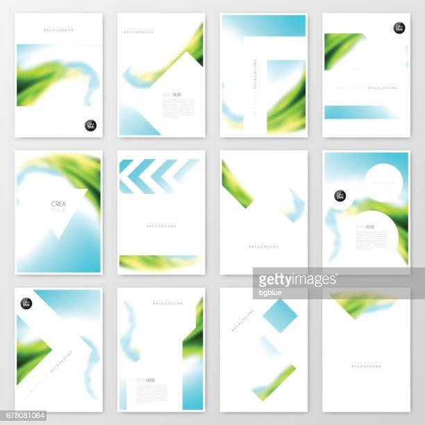 Diseño de plantilla de folleto, diseño de la cubierta, informe anual de la empresa, folleto, revista