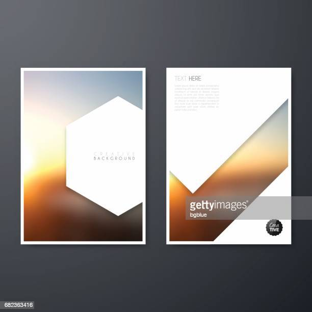 brochure template layout, cover design, business annual report, flyer, magazine - magazine cover stock illustrations