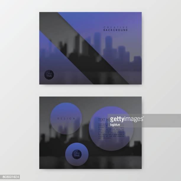 パンフレット テンプレート レイアウトカバー デザインビジネス年次報告