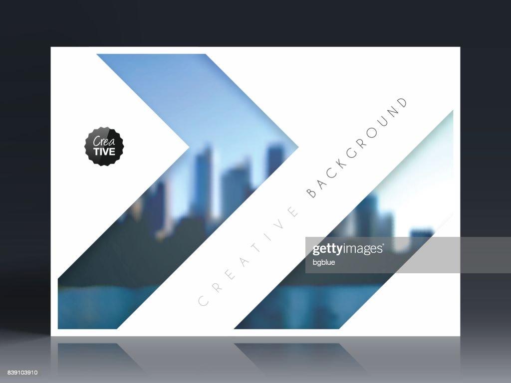 Broschüre Vorlage Layout Coverdesign Jährlichen Geschäftsbericht ...