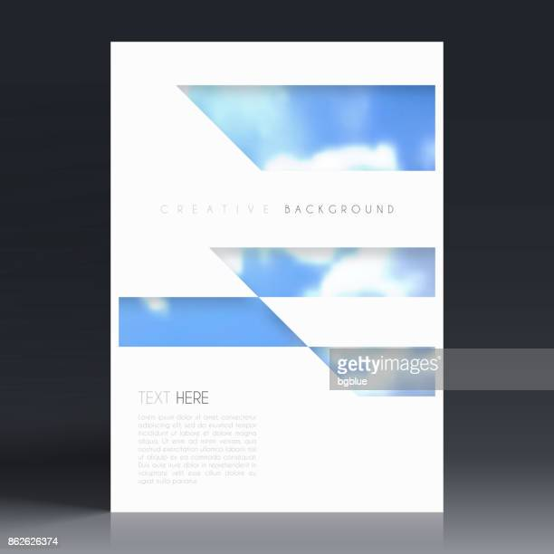 brochure template layout, cover design, business annual report, flyer, magazine - printout stock illustrations