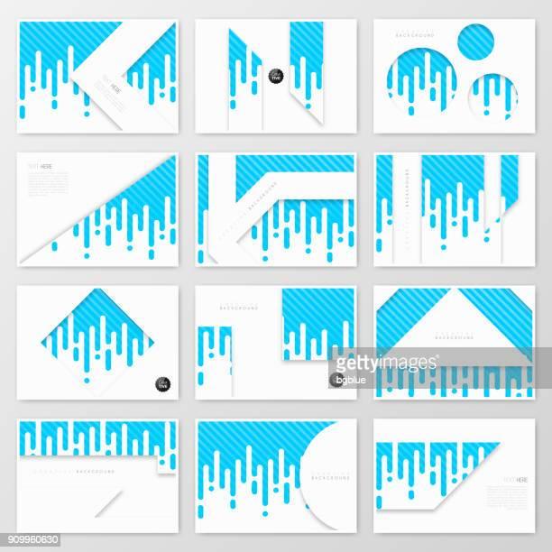 ilustrações, clipart, desenhos animados e ícones de modelo de layout de folheto, design da capa, relatório anual de negócios, panfleto, revista - impressão de computador