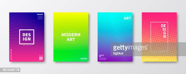 brochure template layout, cover design, business annual report, flyer, magazine - bright colour stock illustrations