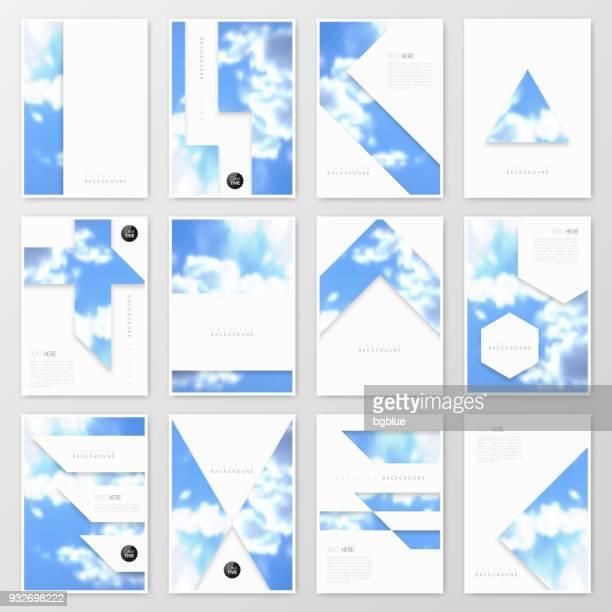 パンフレット テンプレート レイアウト、カバー デザイン、ビジネス年次報告書、チラシ、雑誌 - 雑誌の表紙点のイラスト素材/クリップアート素材/マンガ素材/アイコン素材