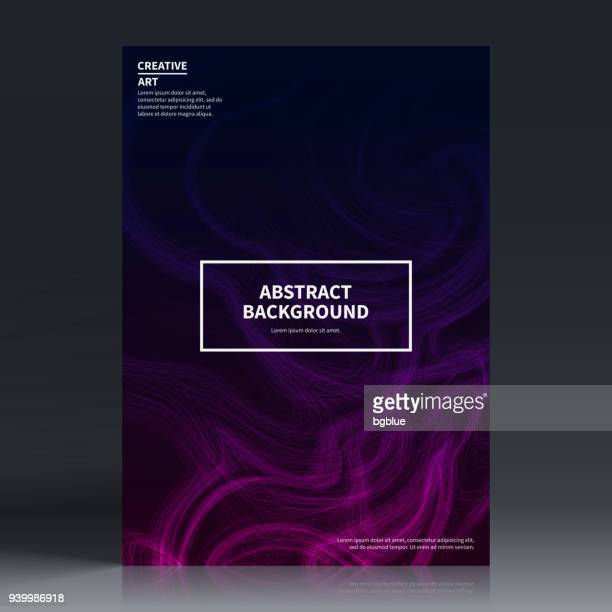 brochure template layout, cover design, business annual report, flyer, magazine - purple stock illustrations