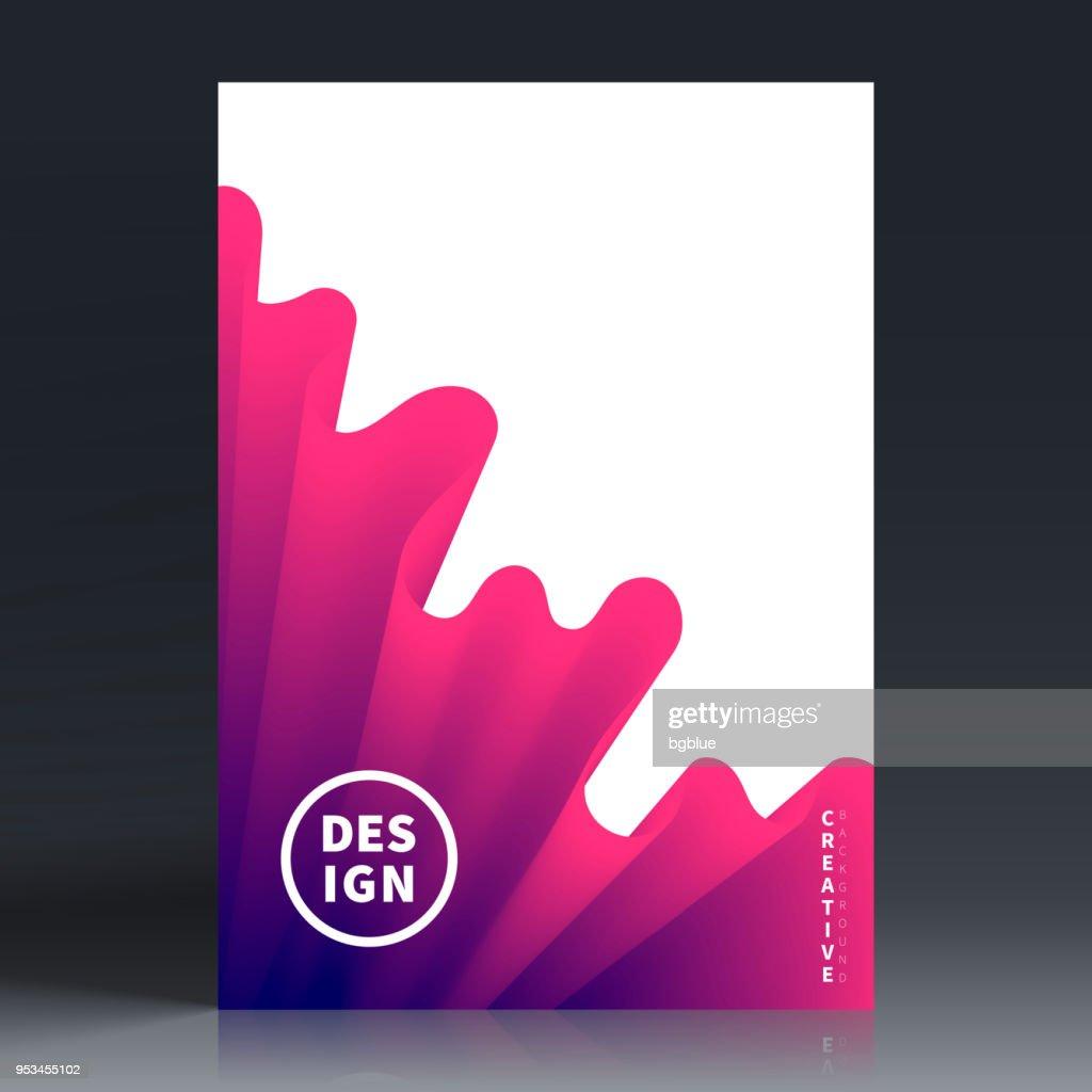 Modelo de layout de folheto, design da capa, relatório anual de negócios, panfleto, revista : Ilustração