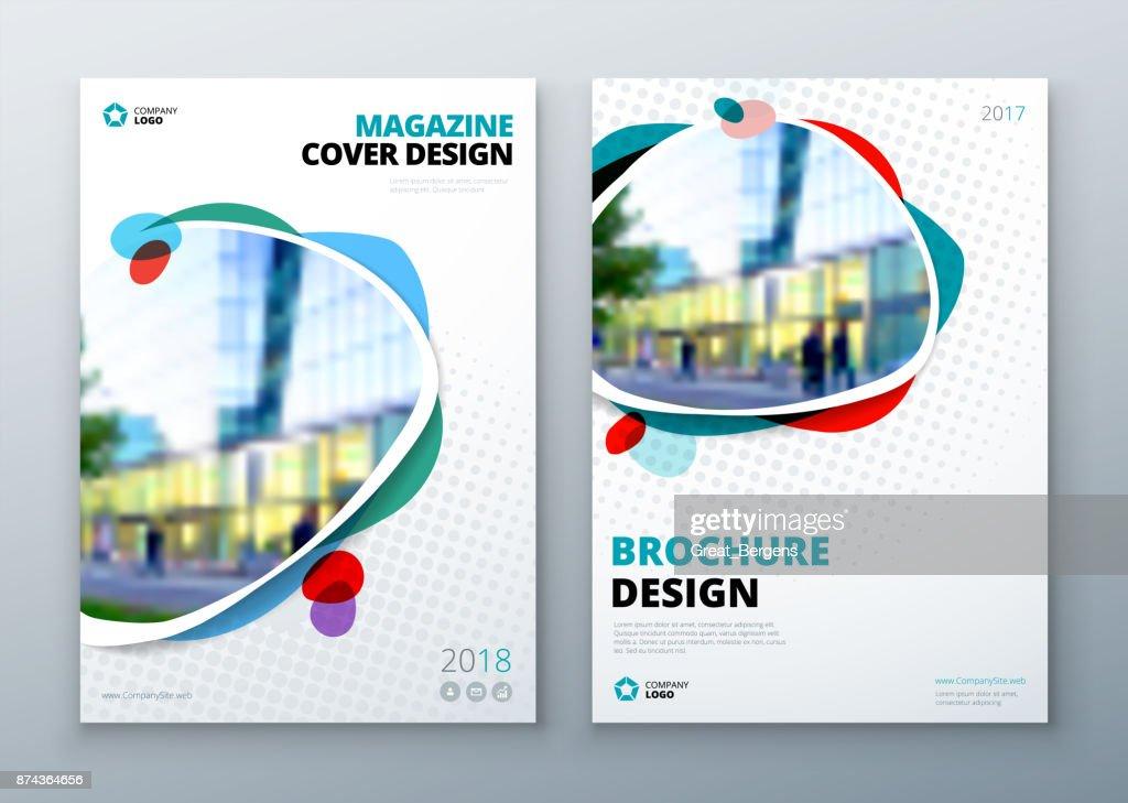 Broschüretemplatelayoutdesign Firmenkundengeschäft Geschäftsbericht ...