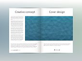 Brochure template layout, flyer, cover, annual report, magazine in A4 size. Triangular shape. Geometric abstract background. Vector illustration