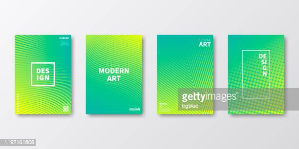 brochure template layout, green cover design, business annual report, flyer, magazine - yellow stock illustrations