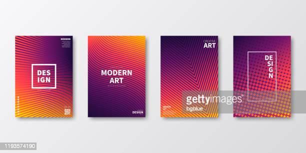 broschüre n.a. layout, orange cover design, geschäftsbericht, flyer, magazin - orange farbe stock-grafiken, -clipart, -cartoons und -symbole