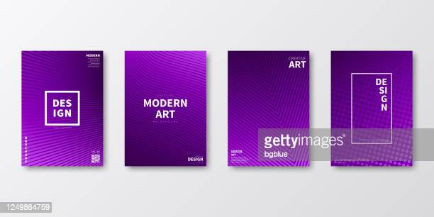 brochure template layout, purple cover design, business annual report, flyer, magazine - purple background stock illustrations