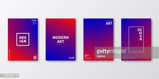 brochure template layout, red cover design, business annual report, flyer, magazine - red and blue background stock illustrations
