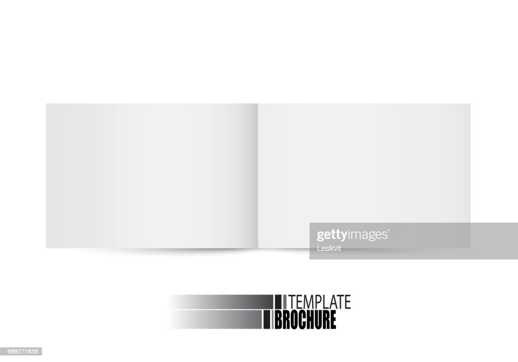 Brochure template on white background