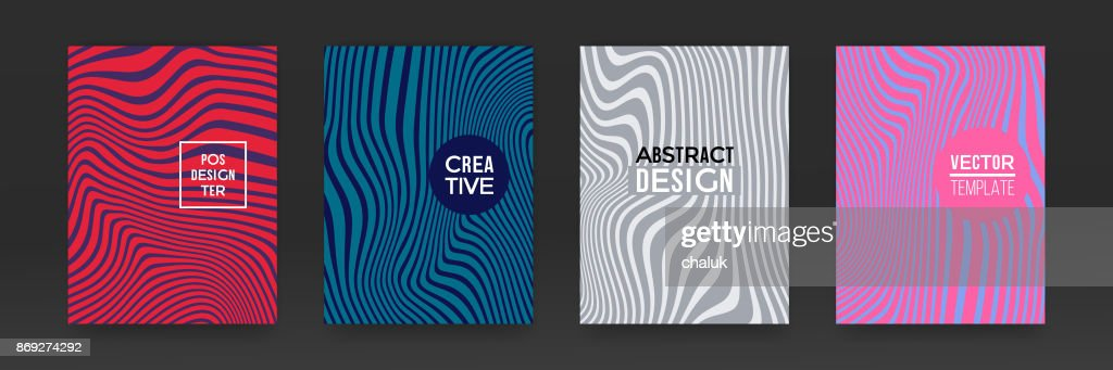 Brochure template set design marble vector abstract color splash texture background