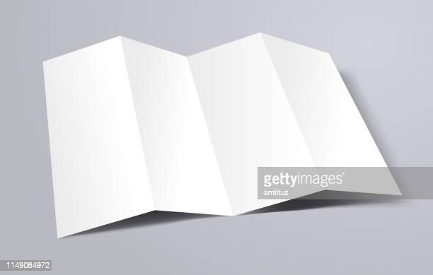 brochure template - folded stock illustrations