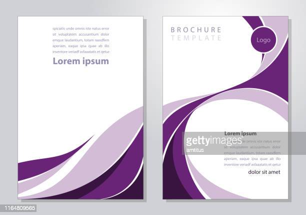 brochure template - magazine cover stock illustrations