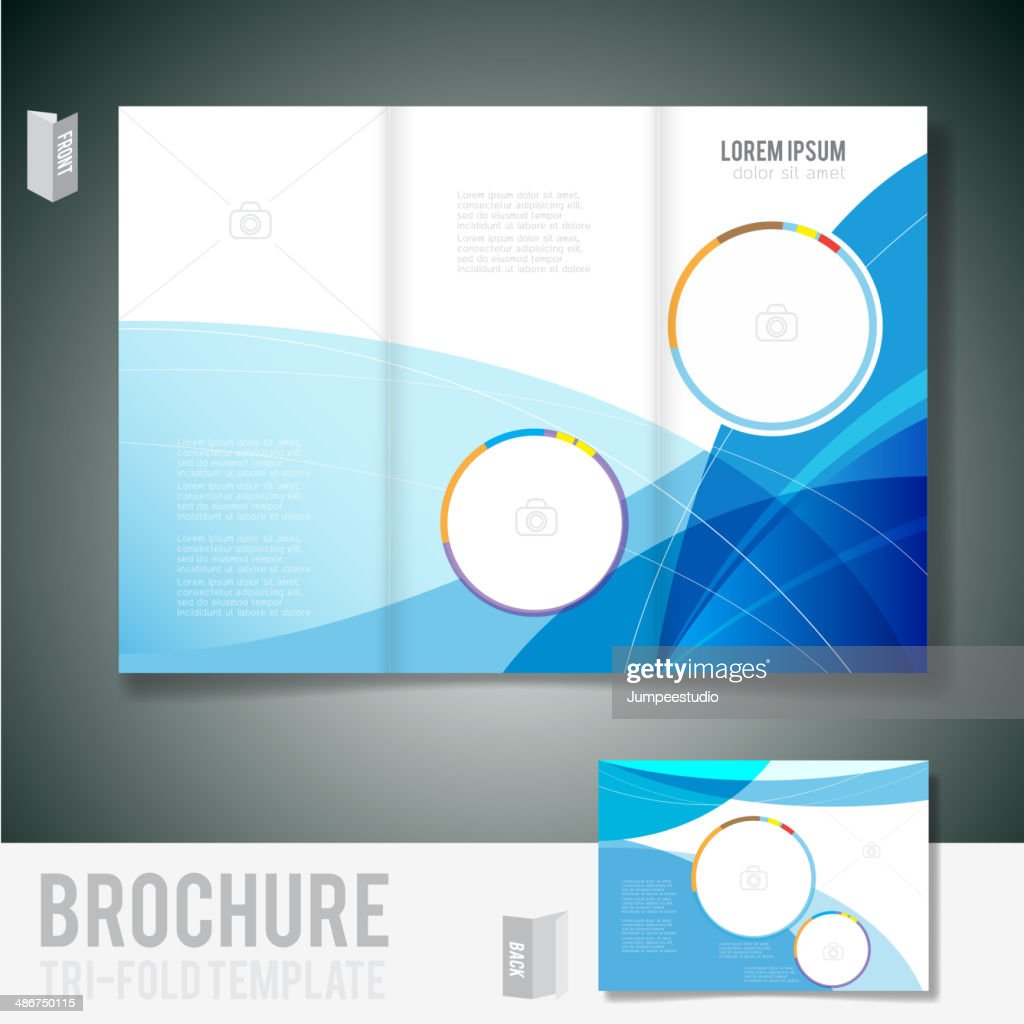 Brochure tri-fold design for business and miscellaneous theme, vector